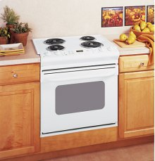 "GE® 30"" Drop-In Electric Range with Standard Clean Oven"