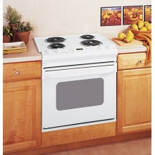"""GE® 30"""" Drop-In Electric Range with Standard Clean Oven"""