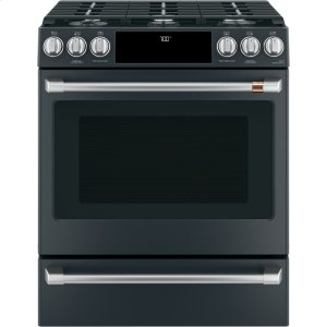"Cafe AppliancesCaf(eback) 30"" Smart Slide-In, Front-Control, Gas Range with Convection Oven"