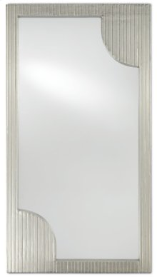 Morneau Silver Large Mirror - 48h x 26w x 1.75d