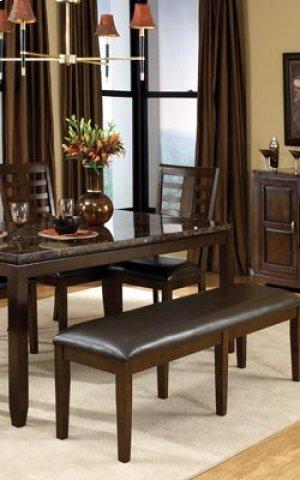 Bella Leg Table, W/marbella Top, W/6 chairs