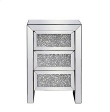 17.5 inch Crystal Bedside Table Silver Royal Cut Crystal