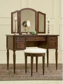 """Warm Cherry"" Vanity, Mirror & Bench"