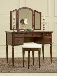 "429-290AT2  ""Warm Cherry"" Vanity, Mirror & Bench"