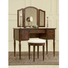 """Warm Cherry"" Vanity, Mirror & Bench"