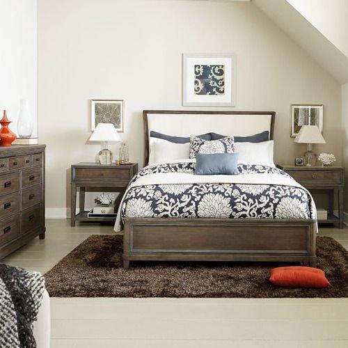 Park Studio King Upholstered Sleigh Bed Complete