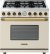 Additional Range DECO 36'' Classic Cream matte, Bronze 6 gas, gas oven