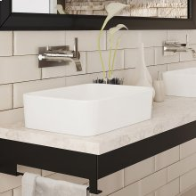 Gemma Rectangular Above-counter Vitreous China Bathroom Sink