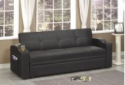 Black Sofa Bed With Cup Holder's Product Image