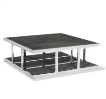 Soto Large Square Cocktail - Charcoal Ceruse