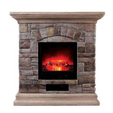 Juna Faux Stone Fireplace