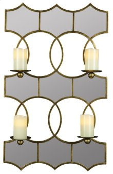 Lia Mirrored Candle Holder