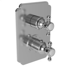 "Forever Brass - PVD 1/2"" Square Thermostatic Trim Plate with Handle"