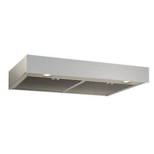 BestIspira 30-in. 500 CFM Stainless Steel Under-Cabinet Range Hood with PURLED Light System and Brushed Grey Glass, ENERGY STAR certified