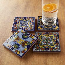 Moroccan Midnight Tile Coasters
