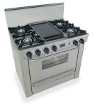 "36"" All Gas Range, Open Burners, Stainless Steel Product Image"