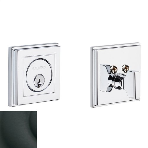 Satin Black Hollywood Hills Deadbolt