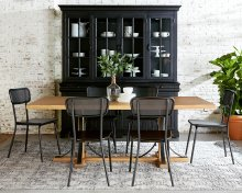 Iron Trestle Dining Table with Method Chair