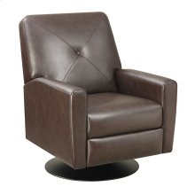 Swivel Recliner Kd Brown/black Base