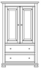 Havenridge Armoire Product Image