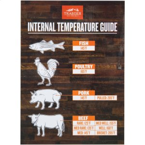 Internal Temperature Guide Grill Magnet -