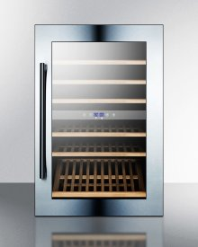 51 Bottle Fully Integrated Dual Zone Wine Cellar With Digital Controls and LED Lighting