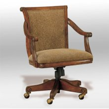 "Brandon ""Warm Cherry"" Castered Swivel Arm Chair, 18"" Seat Height"