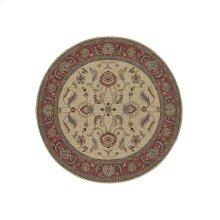 Ashara Agra Ivory Round 8ft 8in x 8ft 8in