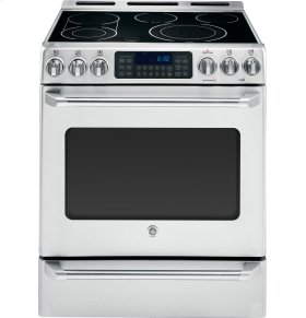 "GE Cafe™ Series 30"" Slide-In Front Control Convection Range with Baking Drawer"