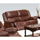 Brown Loveseat W/power Motion Product Image