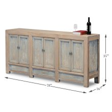 Gansu Cabinet, 6 Door, Pine