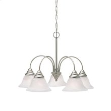 Telford Collection Telford 5 Light Chandelier - Brushed Nickel