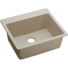 "Elkay Quartz Classic 25"" x 22"" x 9-1/2"", Single Bowl Drop-in Sink, Putty"