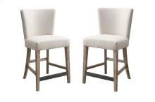 Emerald Home Synchrony Gather Barstool Upholstered Seat & Back Pearl D112-24b