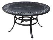 "Emerald Home Versailles Outdoor 54"" Round Umbrella Table-onyx Cast Aluminum-od1045-12 Product Image"