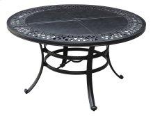 "Emerald Home Versailles Outdoor 54"" Round Umbrella Table-onyx Cast Aluminum-od1045-12"
