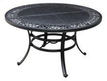 "Emerald Home Versailles Outdoor 54"" Round Umbrella Table-onyx Cast Aluminum-od1045-12"