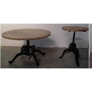 Industrial Black End Table