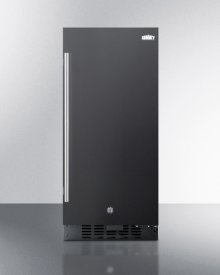 """15"""" Wide All-refrigerator for Built-in or Freestanding Use, With Digital Controls, LED Light, Lock, and Black Exterior Finish; Replaces Ff1538b"""