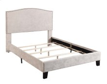 Upholstered 4/6 Full Headboard-footboard & Rails-cream#xh081-02