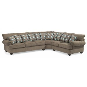 FLEXSTEELHOMEPatterson Fabric Sectional without Nailhead Trim