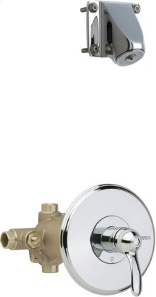 Thermostatic Pressure Balancing Tub and Shower Valve with Shower Head