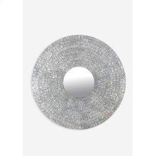 Cameron Round Mirror XL - Silver (47X47X1)