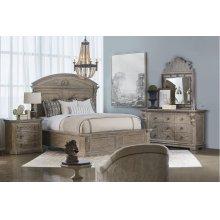 Arch Salvage Queen Chambers Panel Bedroom Set: Queen Bed, Nightstand, Dresser & Mirror