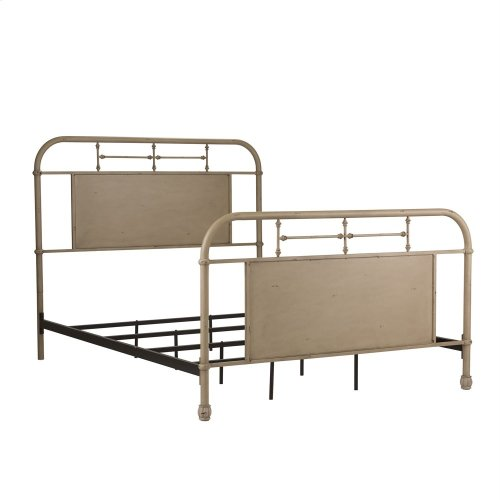 Full Metal Bed - Vintage Cream