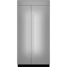 "42""(w) Fully Integrated Built-In Side by Side Refrigerator Panel Kit., Euro-Style Stainless Handle"