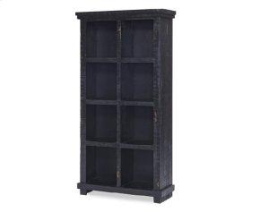 Distressed Black Bookcase - White, Black, \u0026 Pine Finish