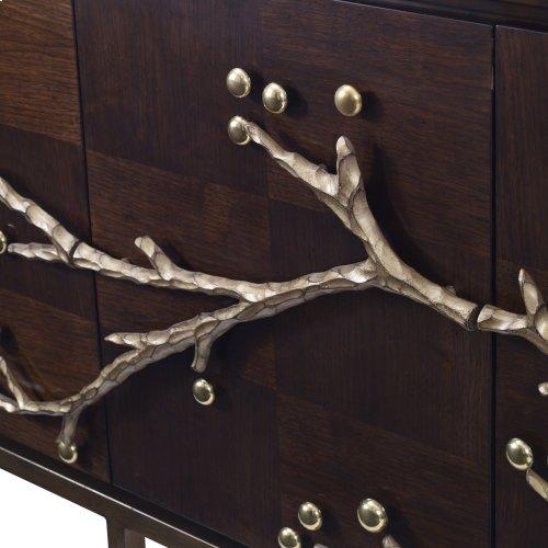 Cherry Blossom Media Cabinet - Walnut
