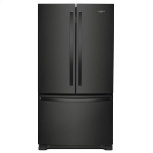 36-inch Wide Counter Depth French Door Refrigerator - 20 cu. ft. - BLACK