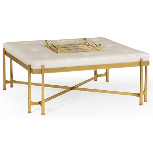 glomise and Gilded Iron Cocktail Ottoman